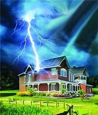 Молниезащита зданий, молниеприемник г.Чита